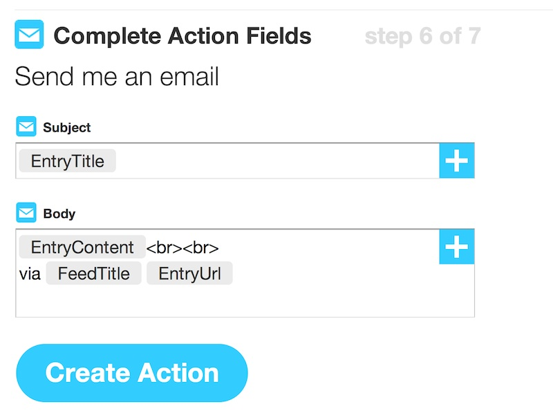 IFTTT Email Form
